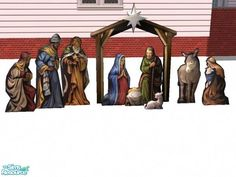 Suiryuue's Cutout Xmas Nativity Yard Decor