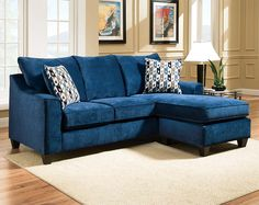 Blue Chenille Couch Elizabeth Royal Two Piece Sectional Sofa Bed Couches