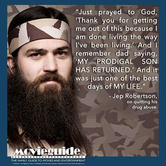 Youngest brother of the DUCK DYNASTY clan, Jep Robertson. He's got a powerful testimony...