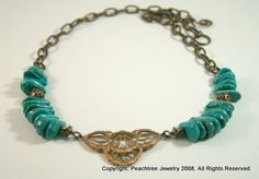 Handmade Necklace - Cleopatra  visit peachtreeks.com to see more