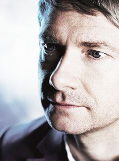 Martin Freeman. Can't see his clothing but hey his face!!!
