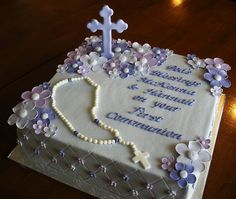 First Communion Cake by Tasty Cakes by Jennifer, via Flickr
