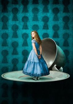 Alice in Wonderland- love this!  We could do the keyholes on the cyclorama, or use a similar concept for a poster.