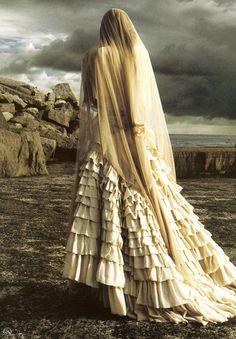 """Storm Bringer""   Rosie Huntington-Whitley by  Michelangelo di Battista  Harpers & Queen September 2005  #editorial"