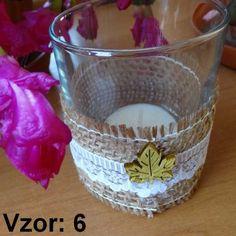 Sklenený svietnik Jarko - Sviečka - S čajovou sviečkou (plus 0,10€), Vzor - Vzor 6