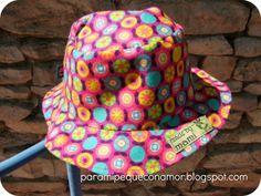 Para mi peque con amor: Sombrero para bebé (referencia a patrón gratuito)