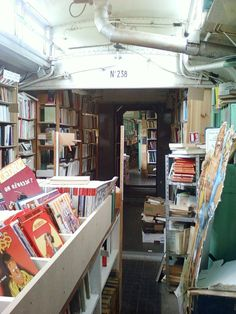 librarylydia:  gallifreyan-detective:  An old train transformed into a book shop in Auvers-sur-Oise (France)From comics and books for children, to old books (Literature, Science, History and more), this peculiar book shop must have something to tickle your curiosity! [All pictures are mine.]  MUST. GO. HERE.