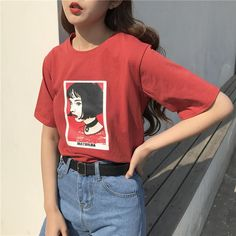 – Mathilda Lando from Léon printed t-shirt  – Loose fitting, oversize, super comfy and cozy  – Cotton polyester