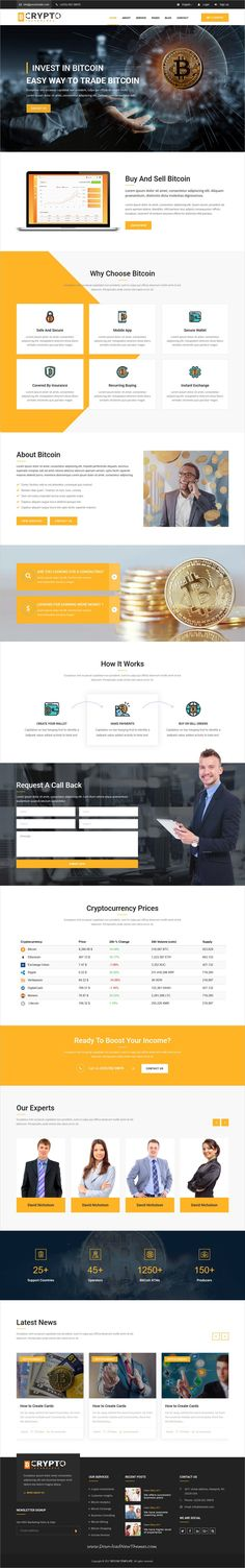 BitCoin is clean and modern design responsive #bootstrap template for bitcoin #mining, #crypto currency exchange and #trading company website to live preview & download click on Visit