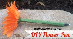 DIY flower pens - Your Modern Family