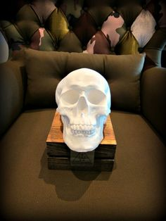 "Skull - You can draw and paint on the white skull. Use markers, acrylic paint, ""chili sauce"" or anything else you can think of.  Finish it off with clear varnish to protect the paints and its ready to call it one-of-a kind skull made by yourself!  http://www.whiteantler.com/product/decor/paint-your-own-skull"