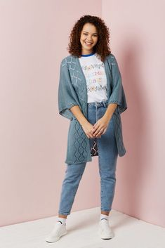 Find Freyr cardigan in issue 119 of Knit Now magazine. Now Magazine, Jumper Patterns, Pusheen, Exclusive Collection, Cable Knit, Kicks, Knitting, Tops, Fashion