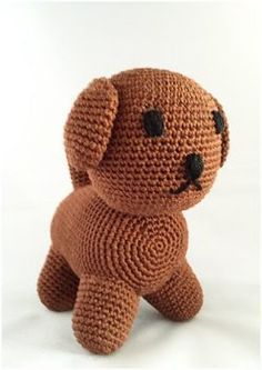 Crochet pattern dog : A free Dutch crochet pattern from the dog Snuffie. Do you want to crochet Snuffie? Then read on about the pattern of this amigurumi. The pattern is suitable for beginners. Crochet For Kids, Diy Crochet, Crochet Baby, Miffy, Knitted Dolls, Crochet Animals, Crochet Projects, Kids Toys, Crochet Patterns