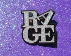 Rage Love Silver Glitter Pin