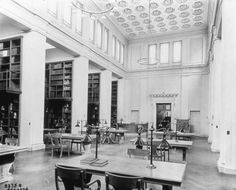 1910. Metropolitan Museum of Art. Digital Media Department. Metropolitan Museum of Art Images. #metmuseum #library #reading Digital Archives, Reading Room, Maine, Stairs, Flooring, Metropolitan Museum, Libraries, Museums, Places