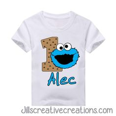 Cookie Monster Birthday Shirt with age