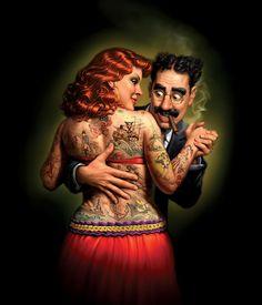 It looks as though Groucho Marx is very focused / Mark Fredrickson - Workbook Illustration Portfolio Illustration Arte, Character Illustration, Creative Illustration, Caricatures, Fine Art Amerika, Plan Image, Arte Sci Fi, Cigar Art, Groucho Marx