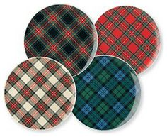 Plaid Dinnerware Sets | Plaid Dessert Plates - traditional - dinnerware - by Haus Interior