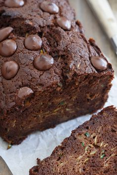 Chocolate zucchini bread is the perfect way to use up any extra zucchini bread you have laying around!  #zucchinibread  #easydessert #quickdessert #mothersdayrecipe #chocolatezucchinibread #chocolatezucchinibreadwasabighit #chocolatezucchinibreadrecipe #chocolatezucchinibreadicecream #chocolatezucchinibreadofdoom #chocolatezucchinibreadforsale #chocolatezucchinibreakfastbake #chocolatezucchinibreadglutenfree Chocolate Zucchini Bread, Paleo Chocolate, Chocolate Recipes, Chocolate Ganache, Chocolate Chips, Dessert Cake Recipes, Paleo Dessert, Gluten Free Desserts, Dessert Ideas