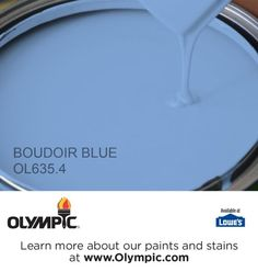 BOUDOIR BLUE OL635.4 is a part of the blues collection by Olympic® Paint.