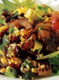 Grilled Corn Salad with Black Beans & Rice | KitchenDaily.com