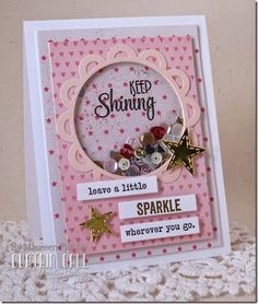 Card created by design team member Maureen Plut using products from Pretty Pink Posh. Diy Cards Thank You, Your Cards, Card Making Inspiration, Making Ideas, Kids Birthday Cards, Card Tags, Card Kit, Shaker Cards, Cute Cards