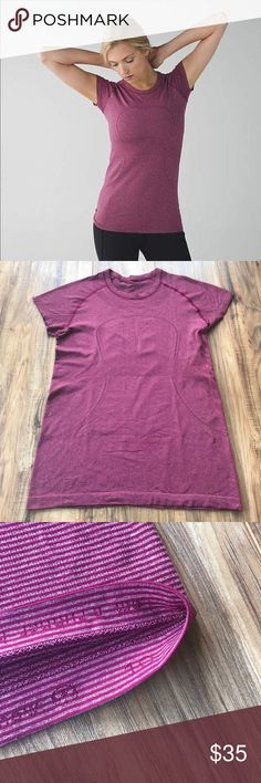 Lulu swiftly ss shirt dashing heathered purple Great condition condition  No holes, stains or piling  Om symbol slightly faded a tad  Bundle & Save! 💸  I 🖤 Reasonable offers! WANT FREE SHIPPING?!  Make a BUNDLE of two  or more items over $75 and I'll send you an offer WITH free shipping AND  a discount on your bundle Follow me & check out my closet I'm always adding more Lululemon and other awesome items! 🍍 lululemon athletica Tops Tees - Short Sleeve