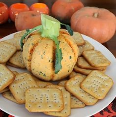 Food Lust People Love: Sincere Pumpkin Patch Spicy Cheese Ball for #SundaySupper