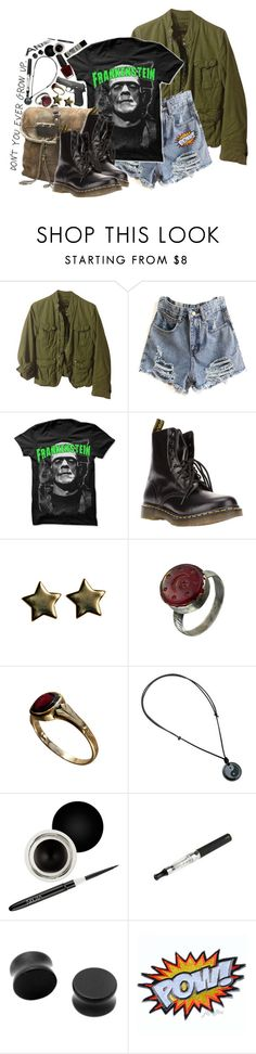 """Burn Your Wicked Garden Down"" by bipolarbabe ❤ liked on Polyvore featuring G-Star Raw, Paul Frank, Juicy Couture, Dr. Martens, NOVICA, OPI and Nouba"