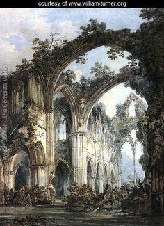 Inside of Tintern Abbey - Joseph Mallord William Turner - www.william-turner.org