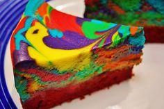 Recipes from Disney World! Tie Dye Cheesecake from Everything Pop, Disney's Pop Century Resort!