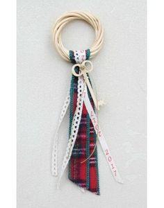 Γούρι Willow Wreath Key & Red Check Ribbon Willow Wreath, Ribbon, Wreaths, Key, Check, Tape, Door Wreaths, Unique Key, Band