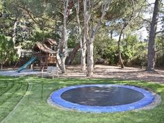 In-Ground trampoline...wonder how safe this is...would have to hold the weight of at least 4 drunken grownups