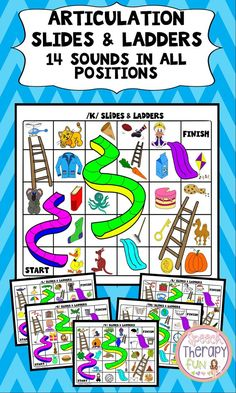 14 games boards addressing 14 different sounds!  Sounds addressed in this product include F, V, K, G, S, Z, L, R, TH, SH, CH, Blends (R, S, L)