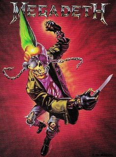 Celebrating 35 Years Of Megadeth all year long. Heavy Metal Art, Heavy Metal Bands, Rock Posters, Band Posters, Rock And Roll Bands, Rock N Roll, Iron Maiden, Vic Rattlehead, Musica Disco
