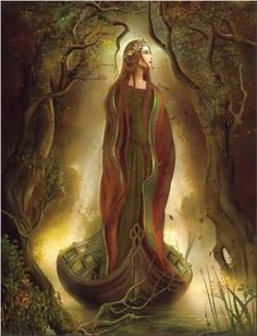 Sequana, a Celtic river Goddess (artwork by John Shannon)