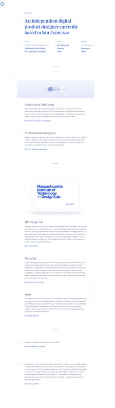 Ultra clean One Pager for product designer Moe Amaya featuring subtle parallax effects using Vanilla Javascript Parallax Library, Rellax.js  Cheers for the build notes!
