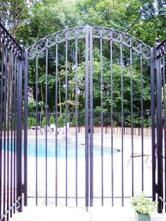 Tall Wrought Iron Pool Gate