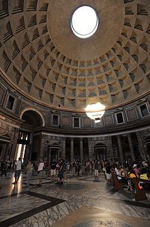 The Pantheon Rome, Italy  Built almost 2000 years ago, it is still the largest unreinforced concrete dome (142 feet high)