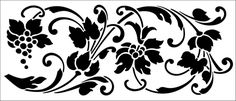 Classical stencils from The Stencil Library. Stencil catalogue quick view page Stencil Painting On Walls, Stenciling, Motif Design, Swirl Design, Stencil Designs, Paint Designs, Artwork Design, Design Art, Stencils Online