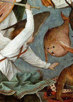 "sforzinda:  """" The Fall of the Rebel Angels (detail), Pieter Bruegel the Elder, 1562  "" """
