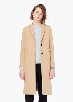 Gerader Mantel mit Taschen