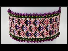 DIY Peyote odd count | Blumen Perlenarmband | Schmuck | Beaded flower bracelet | jewelry - YouTube