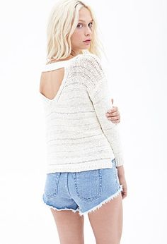 Cutout Back Sweater   FOREVER21 - 2000138175