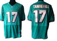 Ryan Tannehill Jersey, #17 Nike NFL Miami Dolphins elite Jersey in green