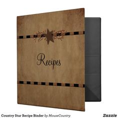 Country Star Recipe Binder by MousefxArt.Com (Mousefx Zazzle Store)