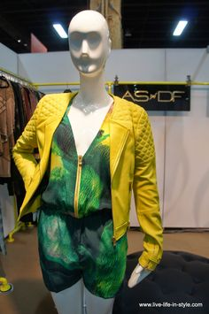 Fab romper mixed with bold leather jacket from As by DF brand! #MagicMarketWeek