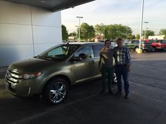 Court Street Ford woul like to thank Adam and Kenneth Nelson of Park Ridge on the purchase of their 2013 Ford Edge.  Thank you for your business!