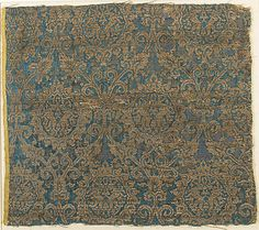 Textile with Brocade- 14th century, Italy
