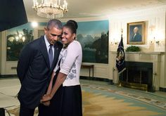 "PURE LOVE RT""@petesouza: Great photo by my colleague Amanda Lucidon of potus & flotus before a videotaping today """